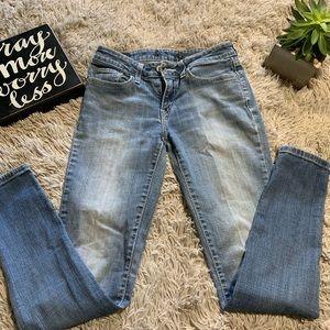 Levi's 524  Skinny Stretch Denim Blue Jeans size 7